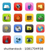 vector computer network icons   ... | Shutterstock .eps vector #1081704938