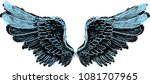 illustration with angel wings... | Shutterstock .eps vector #1081707965