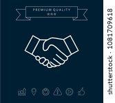 handshake line icon | Shutterstock .eps vector #1081709618
