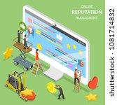 reputation management flat... | Shutterstock .eps vector #1081714832