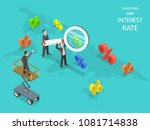 searching low interest rate... | Shutterstock .eps vector #1081714838