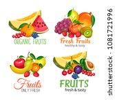 fruits banners. vector design... | Shutterstock .eps vector #1081721996