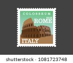 colosseum rome  italy  post... | Shutterstock .eps vector #1081723748
