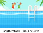 background with two tropical... | Shutterstock .eps vector #1081728845