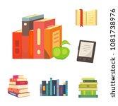 books set in cartoon design... | Shutterstock . vector #1081738976