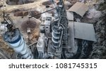 aerial view of construction... | Shutterstock . vector #1081745315