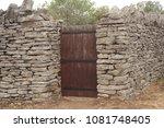 wooden door entrance in the... | Shutterstock . vector #1081748405