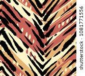seamless brushpen textile... | Shutterstock . vector #1081771556