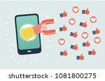 vector cartoon illustration of...   Shutterstock .eps vector #1081800275