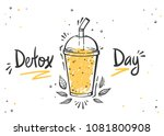 healthy food poster. hand drawn ... | Shutterstock .eps vector #1081800908