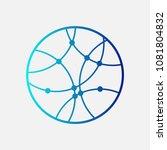 circular globe logo icon. link...