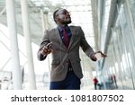 happy african american business ... | Shutterstock . vector #1081807502
