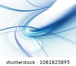 abstract blue and white... | Shutterstock . vector #1081825895
