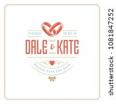 wedding save the date... | Shutterstock .eps vector #1081847252