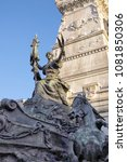 detail of the monument to the... | Shutterstock . vector #1081850306