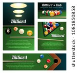 billiard club and poolroom... | Shutterstock .eps vector #1081850858
