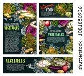 fresh vegetable  green leaf... | Shutterstock .eps vector #1081850936