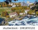 the rhine falls near zurich at... | Shutterstock . vector #1081853132