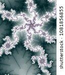 light fractal spirals  digital... | Shutterstock . vector #1081856855