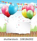 colorful birthday background...