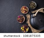 Set Of Different Herbal And...