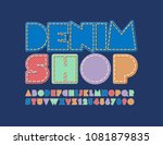 vector cool sign denim shop.... | Shutterstock .eps vector #1081879835