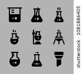 icons chemistry with hot flask  ... | Shutterstock .eps vector #1081886405