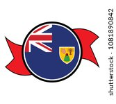 turks and caicos flag in glossy ... | Shutterstock .eps vector #1081890842