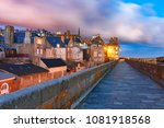 night view of beautiful walled... | Shutterstock . vector #1081918568