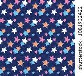 starry night sky in wave. a... | Shutterstock .eps vector #1081932422