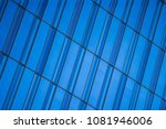 shaded blue lines form glass... | Shutterstock . vector #1081946006
