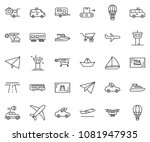 thin line icon set   home... | Shutterstock .eps vector #1081947935