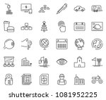 thin line icon set   monitor... | Shutterstock .eps vector #1081952225