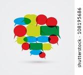 big speech bubble from smaller... | Shutterstock .eps vector #108195686