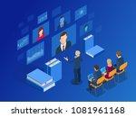 isometric training  online... | Shutterstock . vector #1081961168