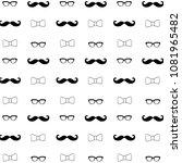 hipster mustache  eyeglasses... | Shutterstock .eps vector #1081965482