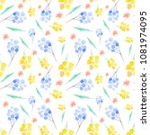 pattern is hand painted by... | Shutterstock . vector #1081974095