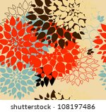 Stock vector floral background summer colour seamless floral pattern with stylized flower 108197486