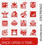 vector once upon a time icon set | Shutterstock .eps vector #1081980602