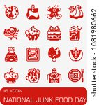 vector national junk food day... | Shutterstock .eps vector #1081980662