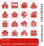 vector national gingerbread... | Shutterstock .eps vector #1081980665