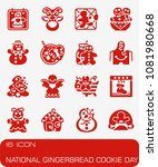 vector national gingerbread... | Shutterstock .eps vector #1081980668