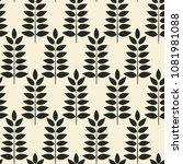monochrome black leaves on... | Shutterstock .eps vector #1081981088