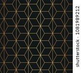 seamless geometric art deco... | Shutterstock .eps vector #1081989212