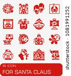 vector for santa claus icon set | Shutterstock .eps vector #1081991252