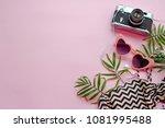 summer vacation concept.... | Shutterstock . vector #1081995488