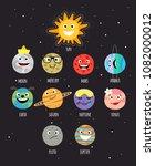 set of planets for kids | Shutterstock .eps vector #1082000012