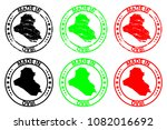 made in iraq   rubber stamp  ... | Shutterstock .eps vector #1082016692