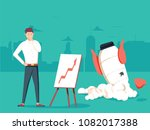 businessman with plan and... | Shutterstock .eps vector #1082017388