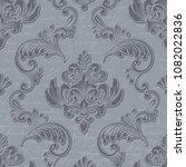 vector damask seamless pattern... | Shutterstock .eps vector #1082022836